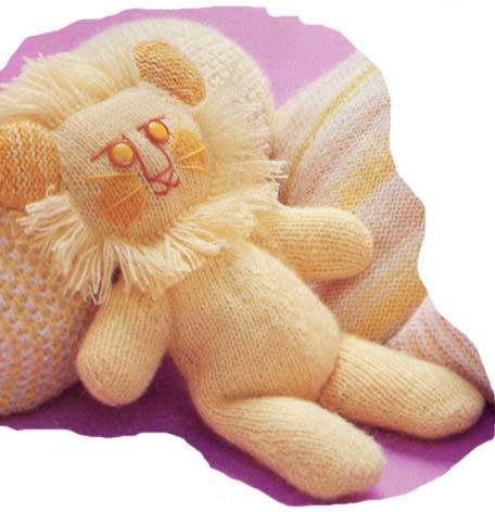 tricoter un lion